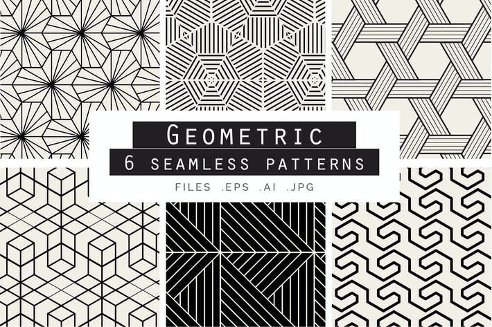 Thumbnail for Geometric Seamless Vector Patterns
