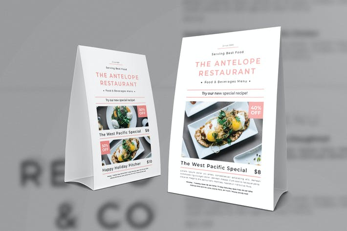Restaurant Table Tent By Badastarad On Envato Elements - Restaurant table advertising