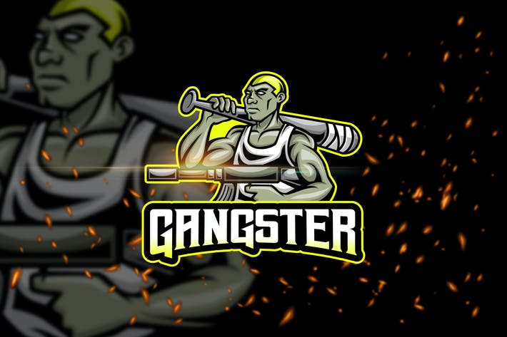 Thumbnail for Gangster - Esport & Mascot Logo Template