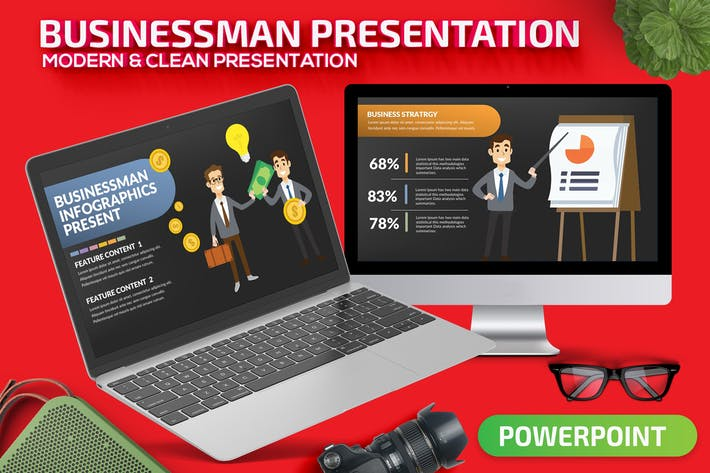Thumbnail for Businessman Powerpoint Presentation