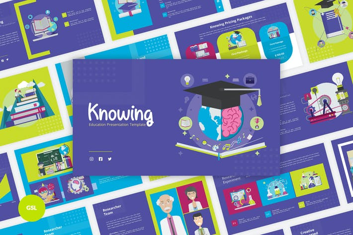 Cover Image For Knowing - Education Google Slides Template