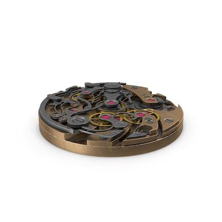 Mecanismo de reloj armadura de bronce