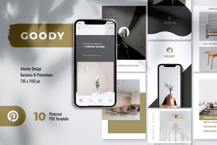 Thumbnail for Modèle de design d'intérieur GOODY Pinterest