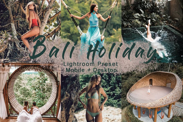 Thumbnail for BALI HOLIDAY - пресет Lightroom | Мобильная связь+Рабочий стол