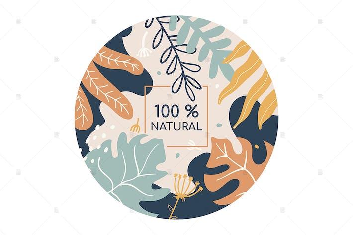 Thumbnail for 100 percent natural colorful social media banner