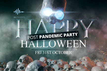 Halloween Post Pandemic Party Print Template