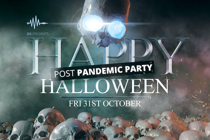 Thumbnail for Halloween Post Pandemic Party Print Template