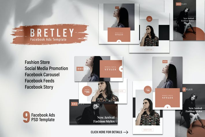 Thumbnail for BRETLEY Fashion Store Facebook Ads Web Banner