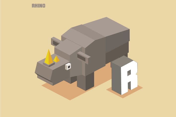 Thumbnail for R for Rhino. Animal Alphabet