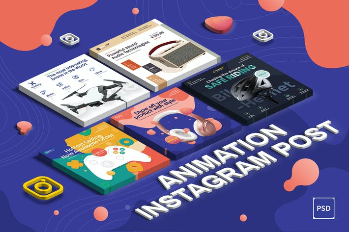Thumbnail for Animation Digital Products Sale Instagram Post