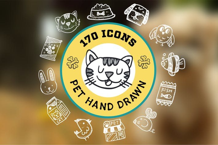 Thumbnail for Pet Hand Drawn Icons