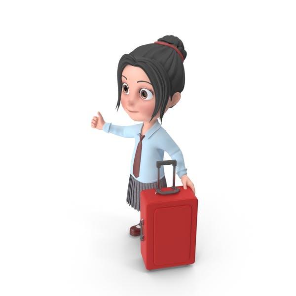 Thumbnail for Cartoon Girl Emma Traveling