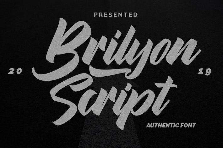 Cover Image For Brylion Script | Unique Authentic Font