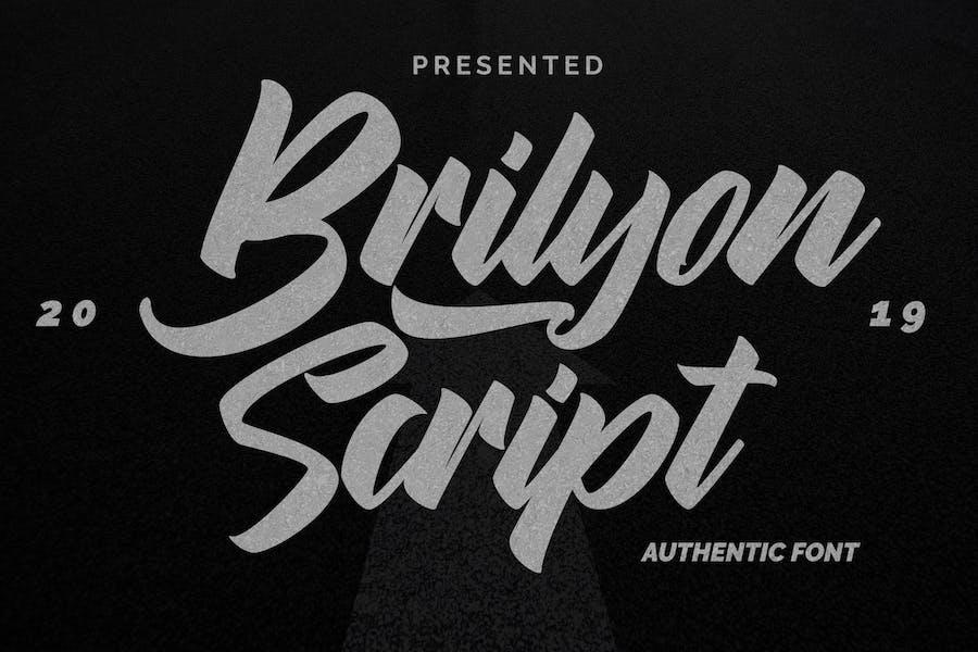 Brylion Script   Unique Authentic Font