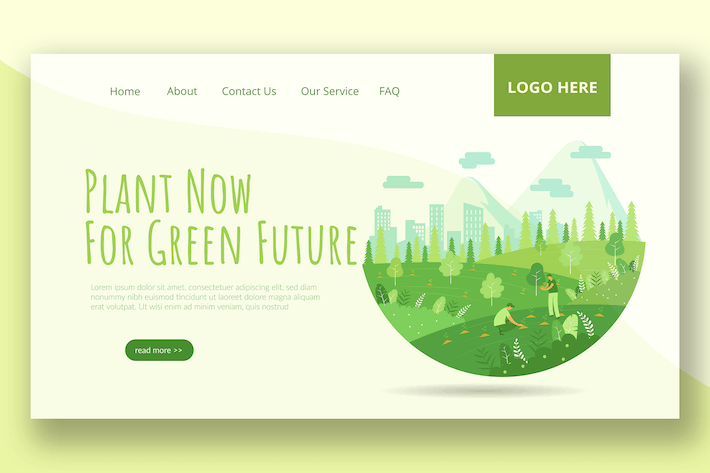 Thumbnail for Go Green  - Landing Page