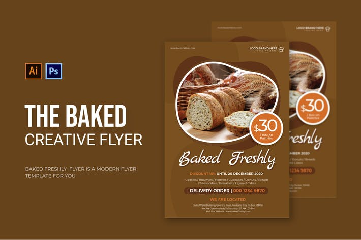 Baked Freshly - Flyer
