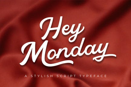 Hey Monday Stylish Script Typeface