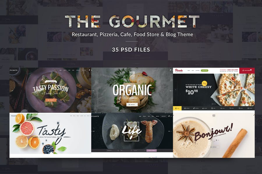 Gourmet - Food & Restaurant PSD Template