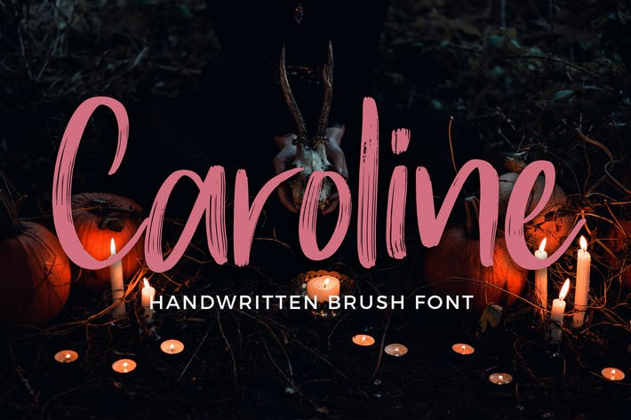 Caroline Handwritten Brush Font