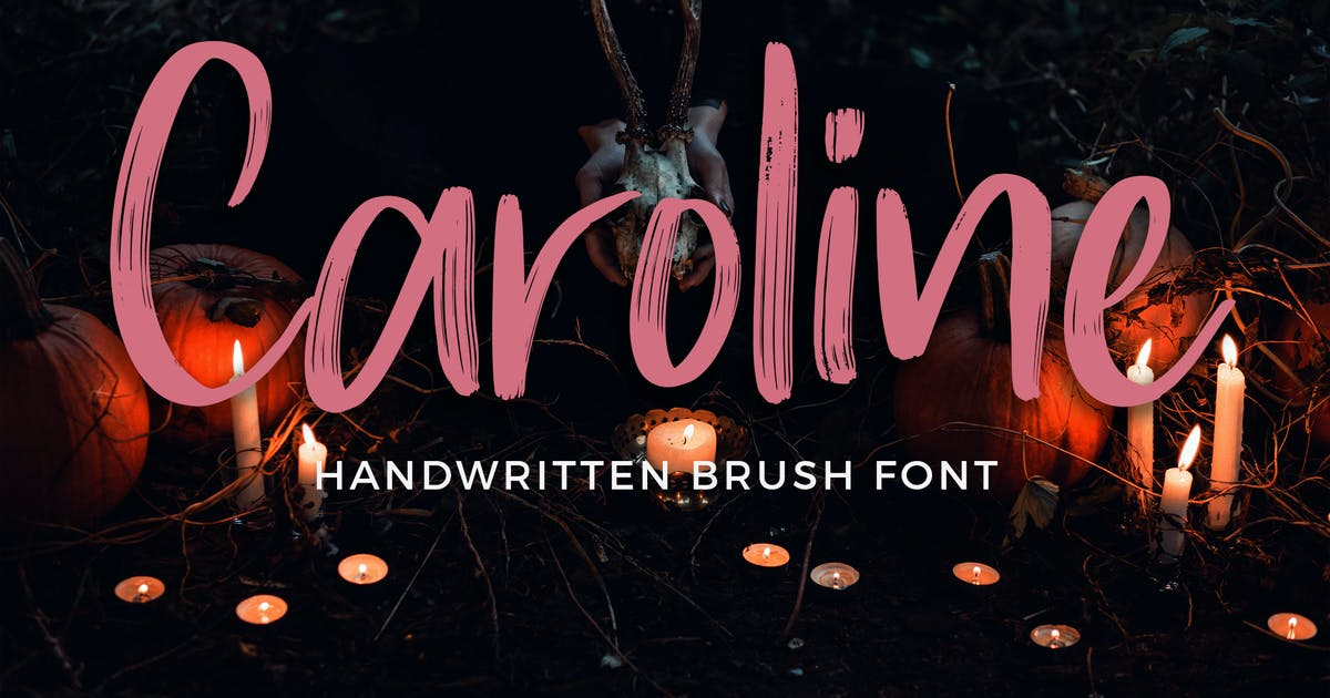 Download Caroline Handwritten Brush Font by Formatika