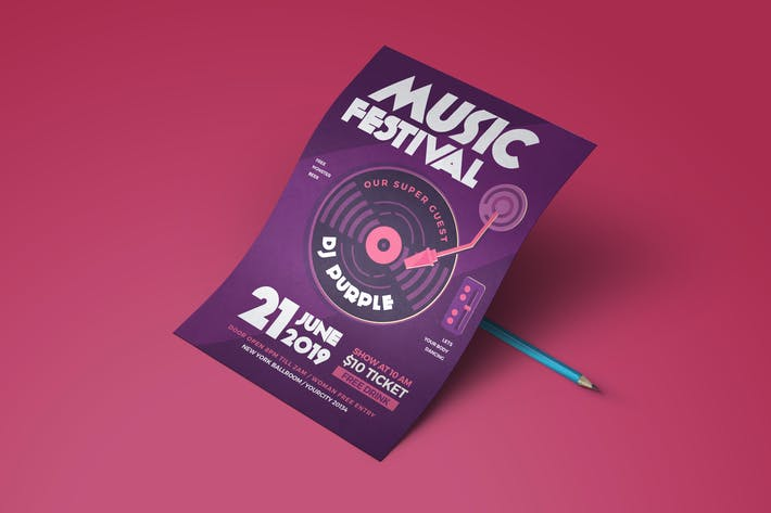 Thumbnail for Music Electro Flyer
