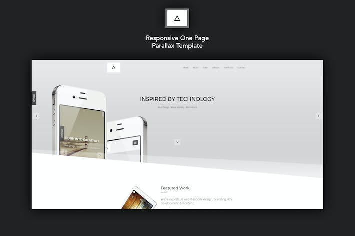 delta responsive one page parallax template by ig design on envato