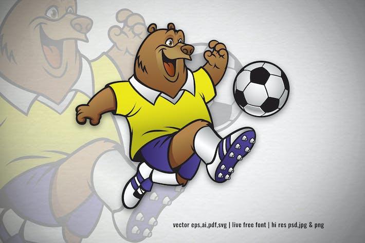 Thumbnail for Bär Cartoon spielen Fußball