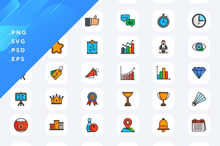 50 Wettbewerb-Icons