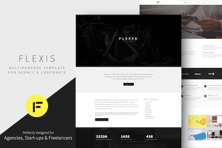 Flexis - Mehrzweck-Bootstrap-Vorlage