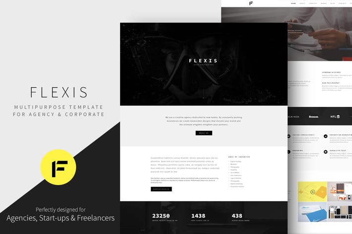 Thumbnail for Flexis - Multipurpose Bootstrap Template