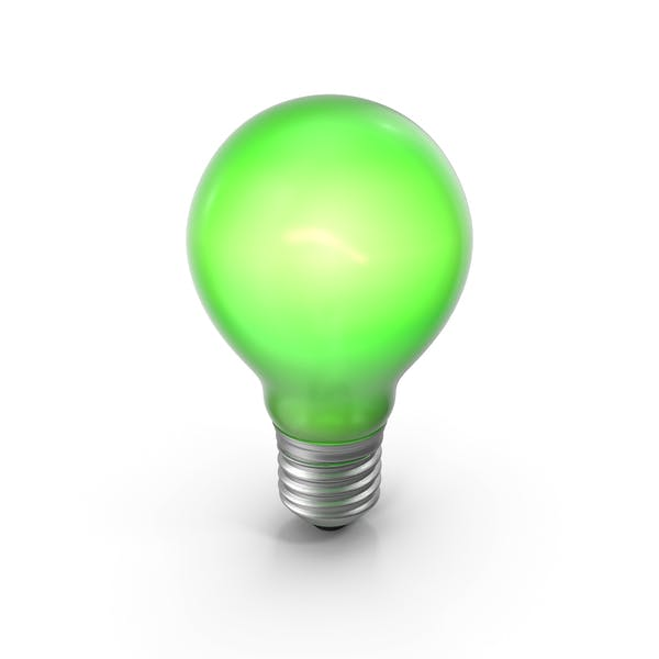 Lightbulb Green Glossy Turned on