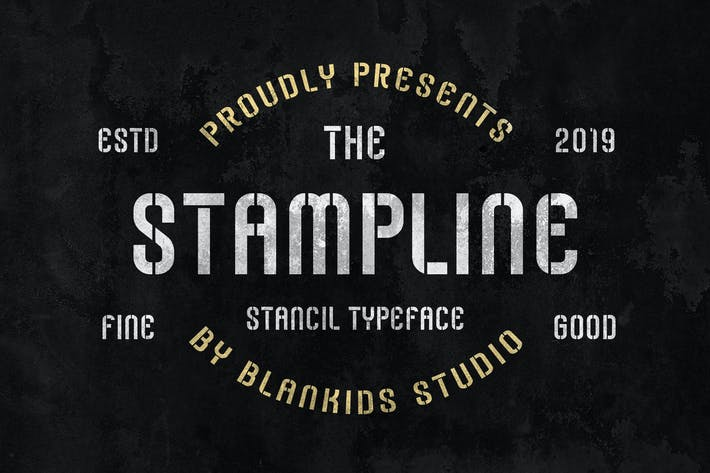 Thumbnail for Stampline - Stencil Typeface