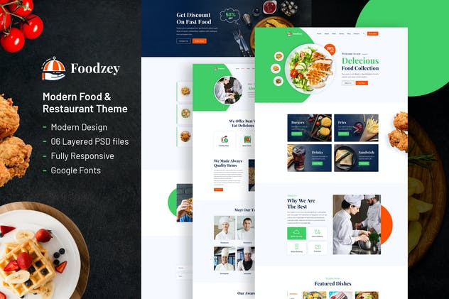 Foodzey - Restaurant PSD Template