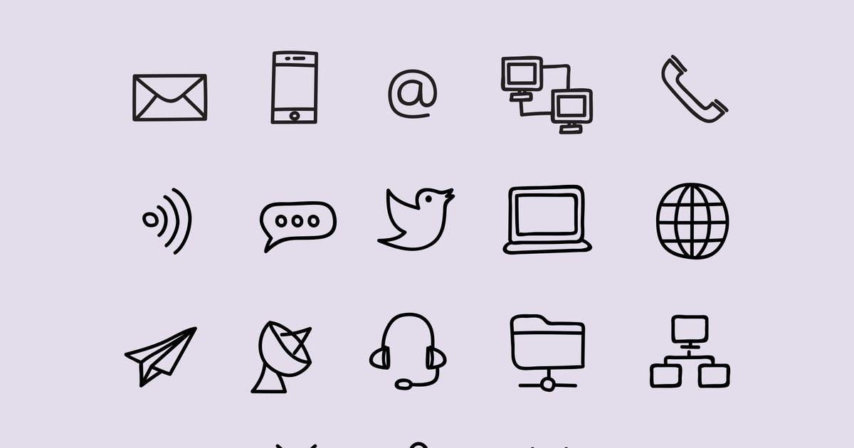 Download 20 Communication Doodles by Unknow