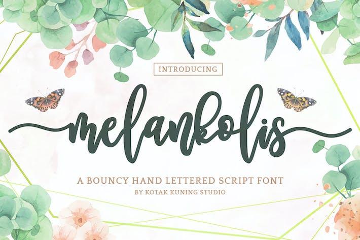 Меланколис - Современный шрифт