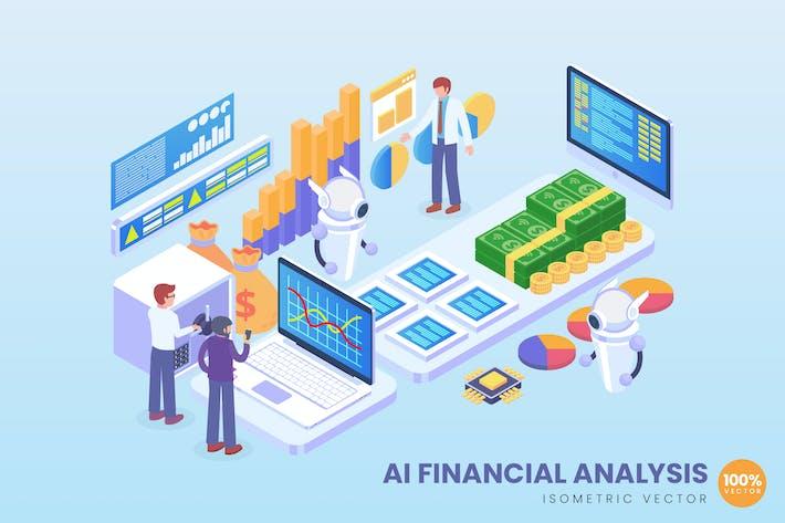 Thumbnail for Концепция Вектор финансового анализа ИИ