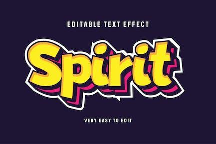 Bold spirit text effect