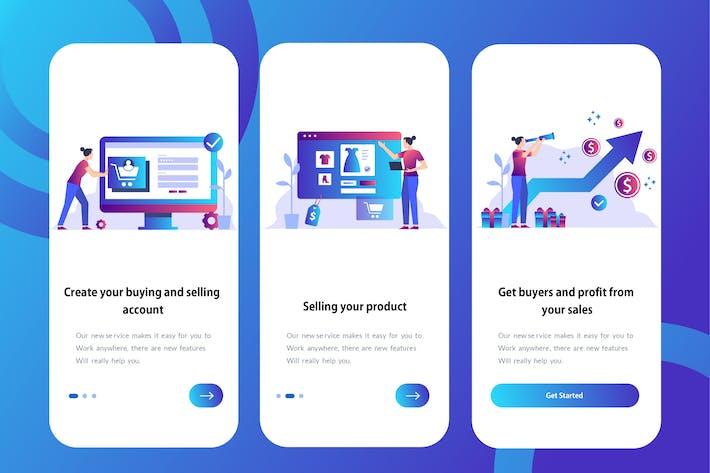Thumbnail for E-commerce App - Onboarding Illustration