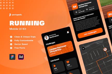 Running App - Mobile Kit