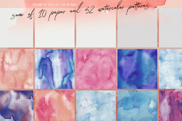 Thumbnail for 32 Watercolor & Paper Patterns