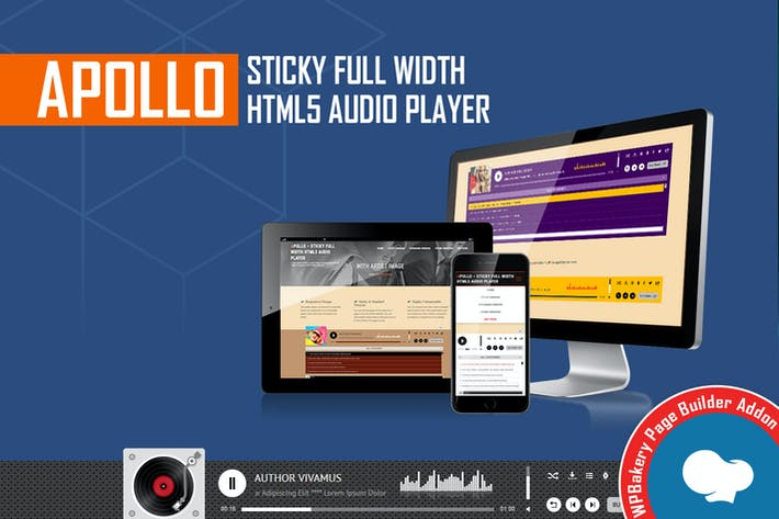 Thumbnail for Visual Composer Addon - Apollo Audio Player