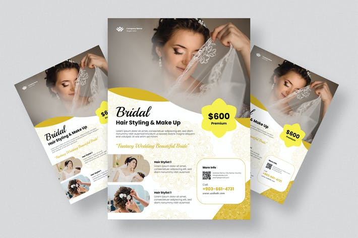 Thumbnail for Haar-Braut-Flyer Design