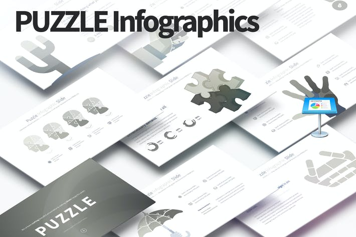 Thumbnail for PUZZLE - Keynote Infographics Slides