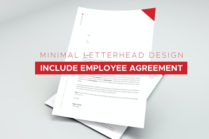 Thumbnail for Employee Agreement and Letterhead Design