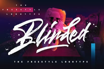 Blinded - Freestyle Logotype