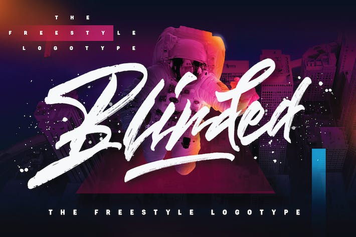 Thumbnail for Blinded - Freestyle Logotype