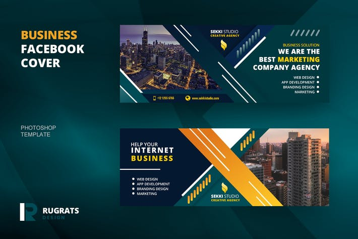 Thumbnail for Business R4 Facebook Cover Template