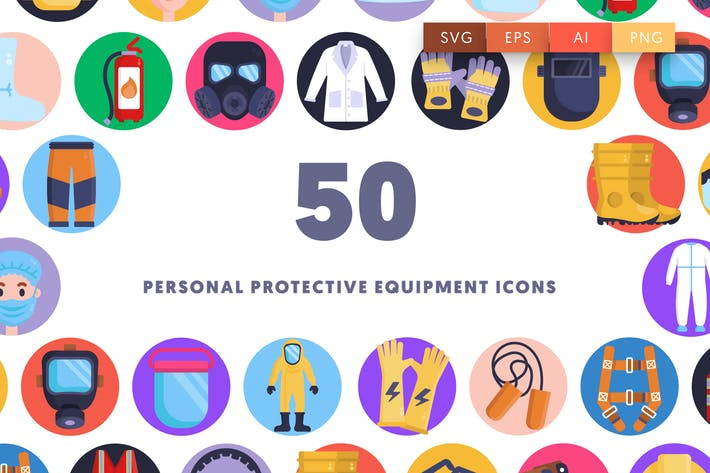50 Personal Protective Equipment Icons