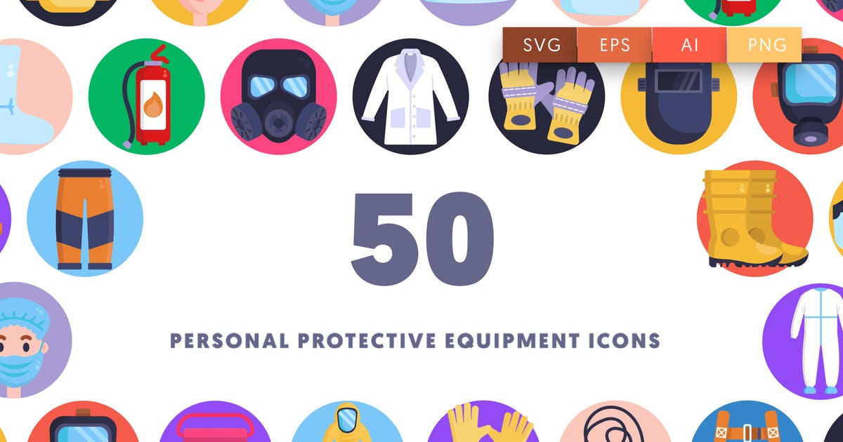 Download 50 Personal Protective Equipment Icons by thedighital