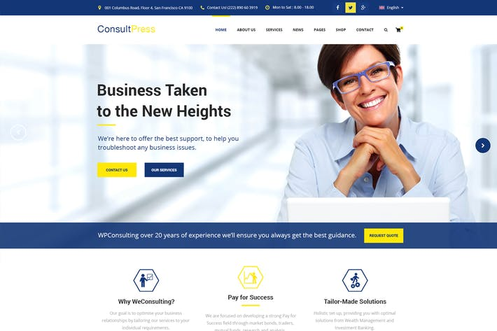 Thumbnail for Consult Press - Finance & Consulting Business PSD
